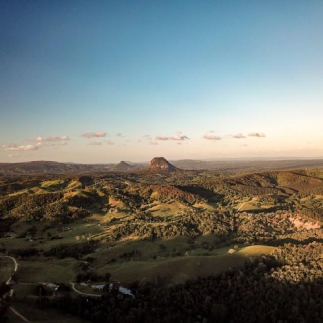 Noosa Hinterland late afternoon Mount Cooroora & Pinbarren